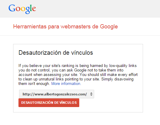 Cómo detectar y desautorizar enlaces negativos - Google Disavow