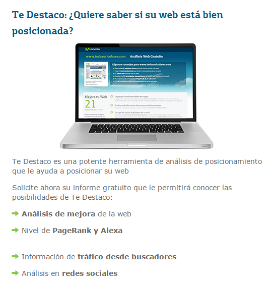 Te destaco en Internet - Movistar